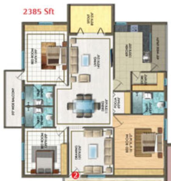 Aditya Empress Towers In Hyderabad Amenities Layout Price List Floor Plan Reviews Quikrhomes