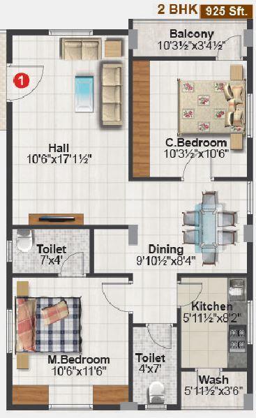 VBM Cute, Bangalore - Floor Plan