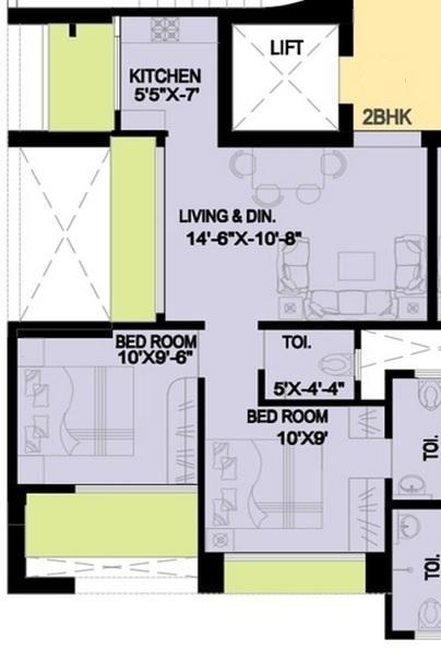 Rohan Lifescapes Ambar, Mumbai - Floor Plan