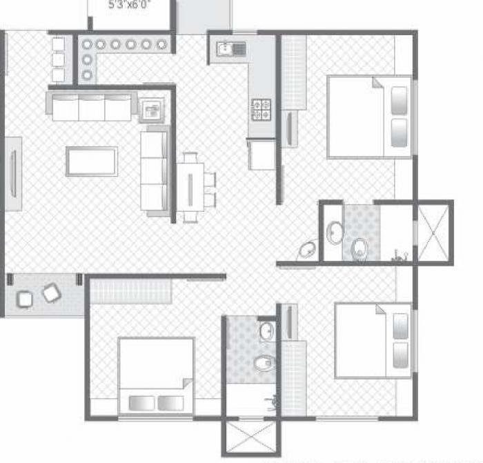 Sangani Dove Deck, Vadodara - Floor Plan