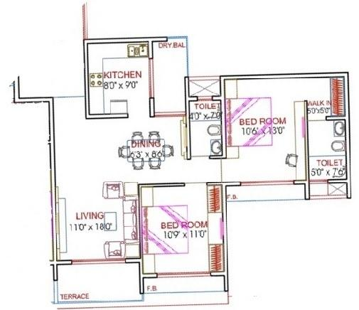 Meridian Homes Mystic, NaviMumbai - Floor Plan