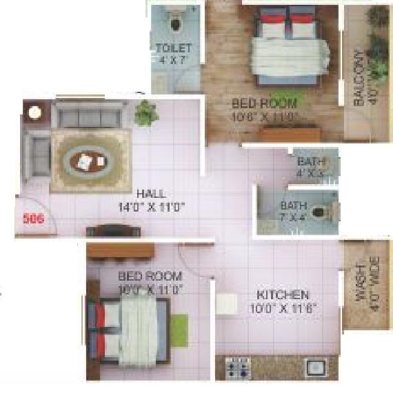 Dreamland Glorious Plaza II, Nagpur - Floor Plan