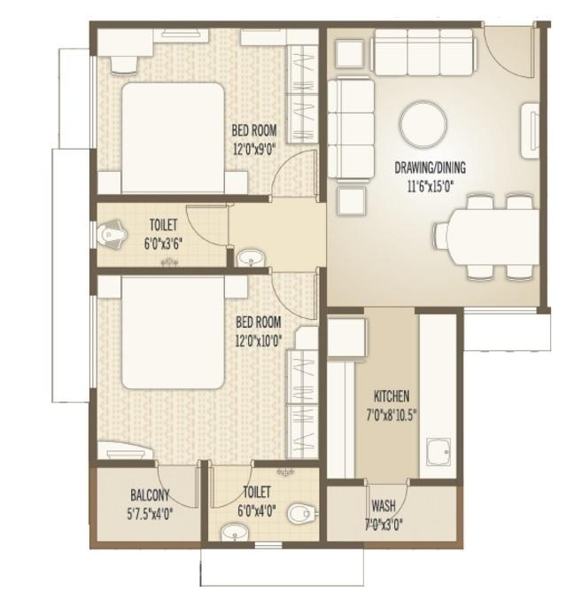 Myco Ahmed Residency, Ahmedabad - Floor Plan