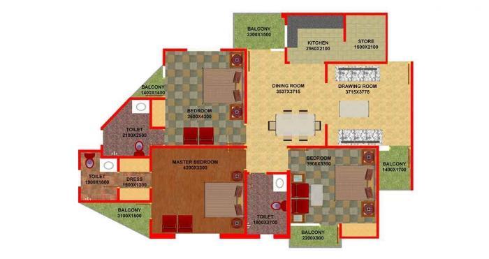 Signature Heights, Lucknow - Floor Plan