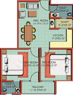 A Square Comfort Residency, Noida - Floor Plan
