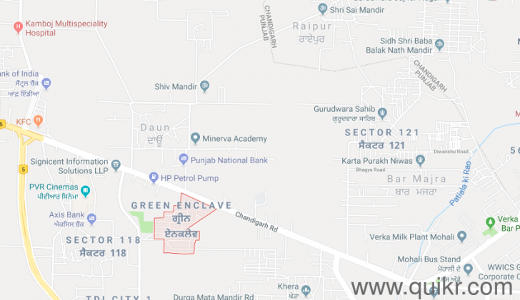 1035 Sqft Plot For Sale In Green Enclave Mohali Property For Sale