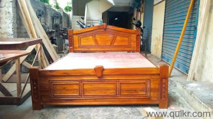 e279c9e753 Teakwood cot with out storage king size - Brand Home - Office Furniture -  Padi, Chennai | QuikrGoods
