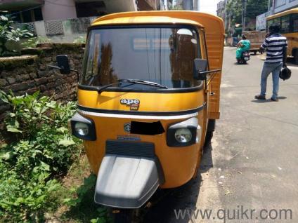Yellow Auto Rickshaw Piaggio Ape D600 In Pothinamallayya Palem