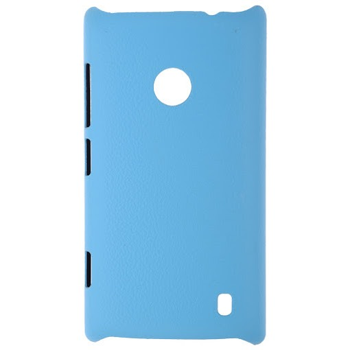 on sale fe147 84cb3 JZZS Leather Finish Back Cover For Nokia Lumia 520 (Blue) for ...