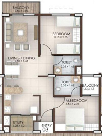 Columbia Peepal Tree, Bangalore - Floor Plan