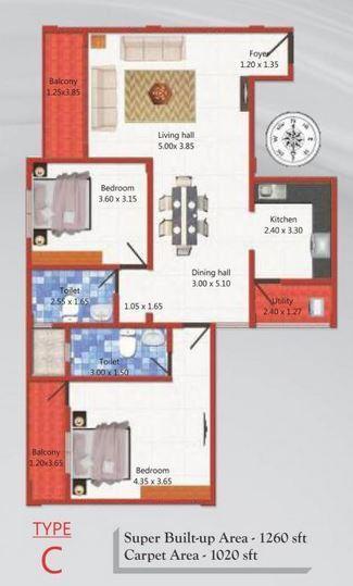 MJ Lifestyle Azaliya, Bangalore - Floor Plan
