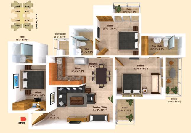 Emenox La Solara, GreaterNoida - Floor Plan
