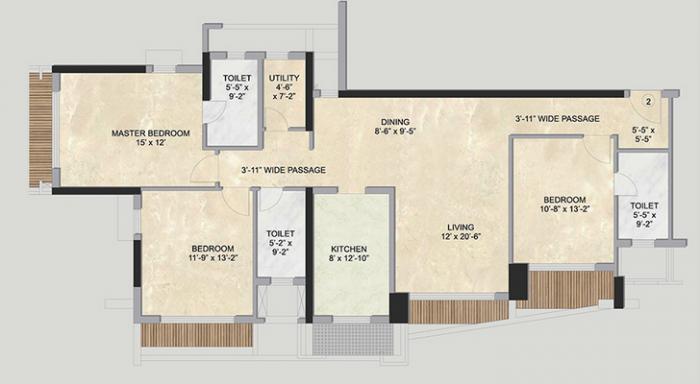 Kalpataru Sparkle, Mumbai - Floor Plan