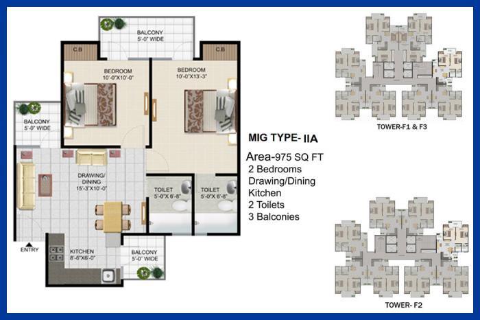 Panchsheel Pinnacle, GreaterNoida - Floor Plan