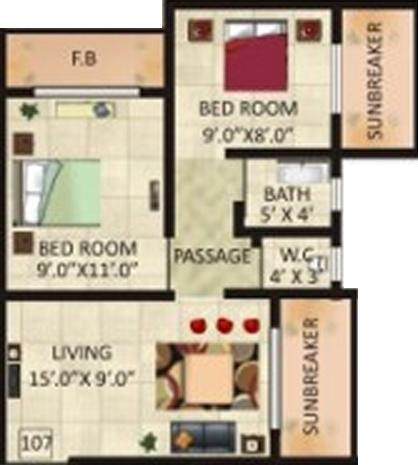 Umiya Darshan, Mumbai - Floor Plan
