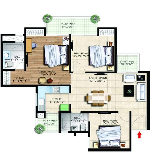 Nirala Greenshire Phase I, GreaterNoida - Floor Plan