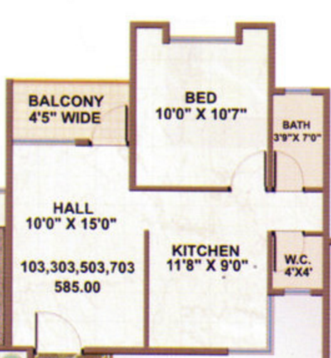 Nerkar Ganesh Atria, Nashik - Floor Plan