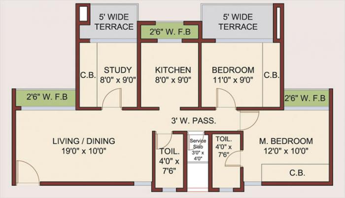 Neelsidhi Amarante, NaviMumbai - Floor Plan