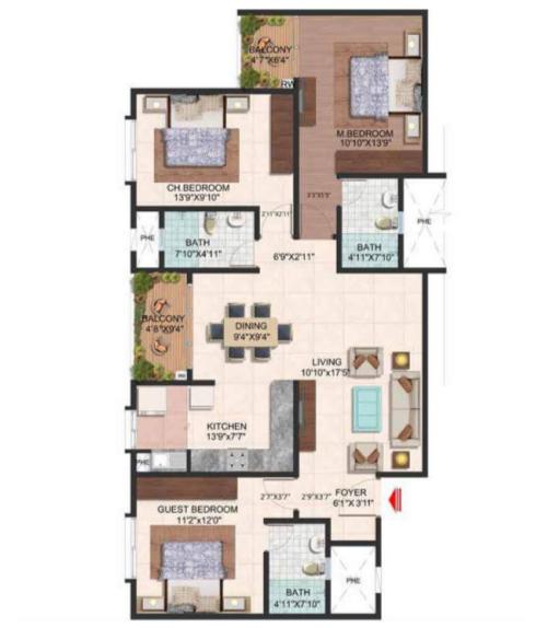 Brigade Meadows, Bangalore - Floor Plan