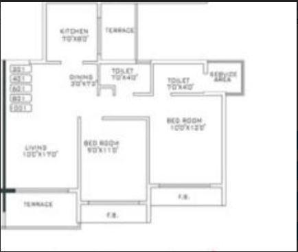 Today Paradise, NaviMumbai - Floor Plan