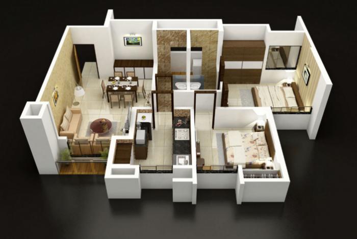 Dosti Vihar, Thane - Floor Plan