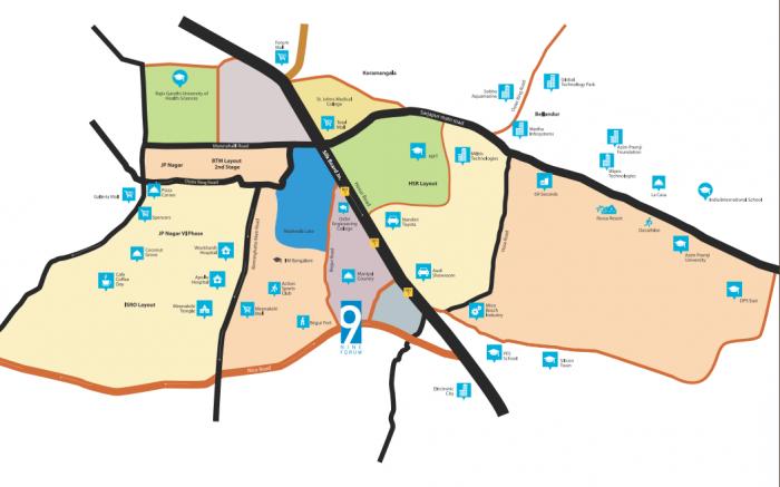 Bluejay Nine Forum In Basapura Bangalore Amenities Layout Price List Floor Plan Reviews