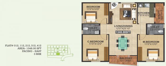 SLV Platina, Bangalore - Floor Plan