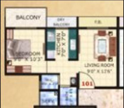 Shanti Nilkanth Residency, NaviMumbai - Floor Plan