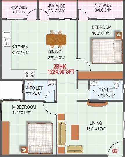 SLV Nice View, Bangalore - Floor Plan