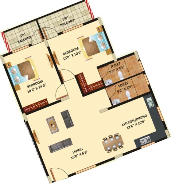 Himagiri Residency, Bangalore - Floor Plan
