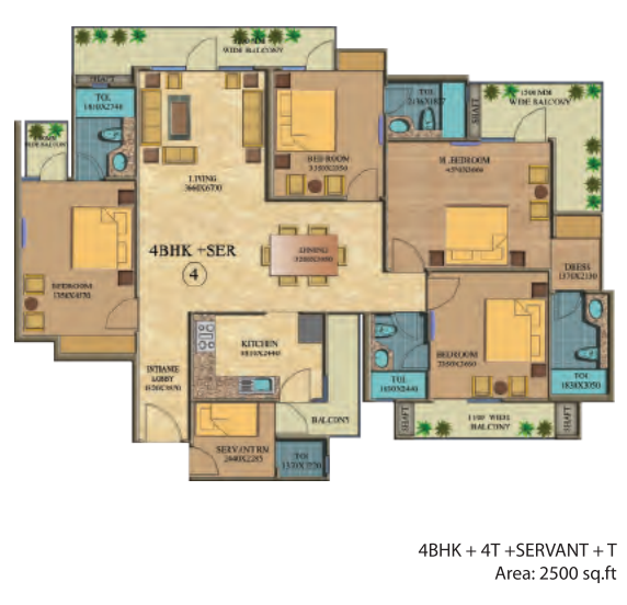 Real Anchors World Residency, Ghaziabad - Floor Plan