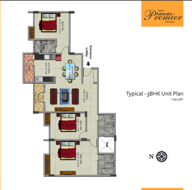 Gopalan Admirality Premier, Bangalore - Floor Plan