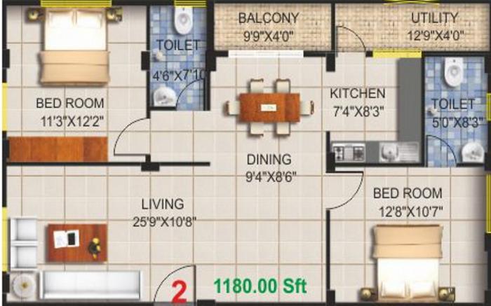 Pioneer KRS Endeavour, Bangalore - Floor Plan