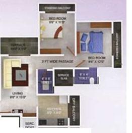 Motiram Meera Vatika, Thane - Floor Plan