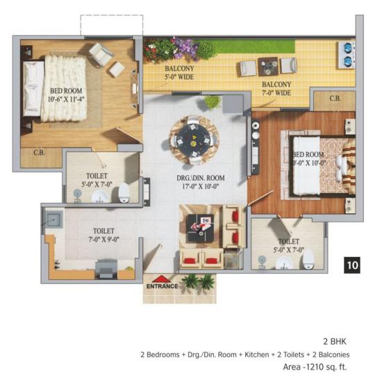 Migsun Mahaluxmi Homz, Ghaziabad - Floor Plan