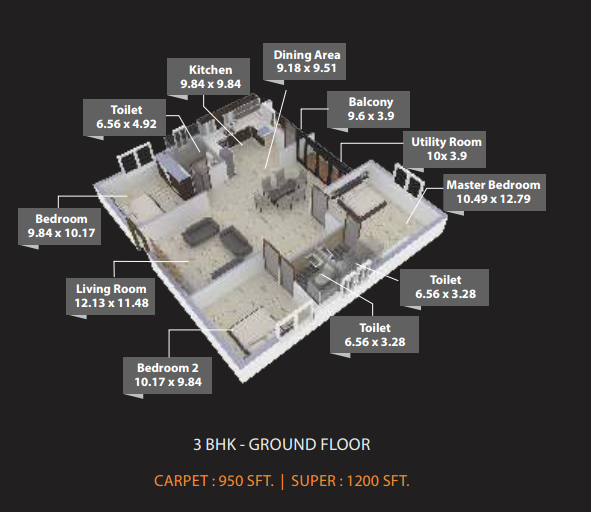 Osadia Garden City, Bangalore - Floor Plan