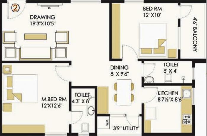 My Space Akshaya, Bangalore - Floor Plan