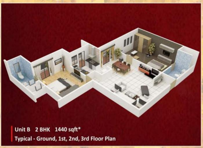 Vastav Sneha Enclave, Bangalore - Floor Plan