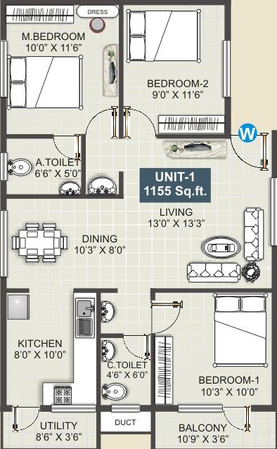 Shivaganga Harmony, Bangalore - Floor Plan