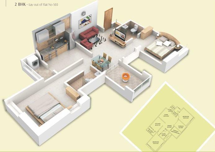 Alliance Nisarg White Lily, Pune - Floor Plan