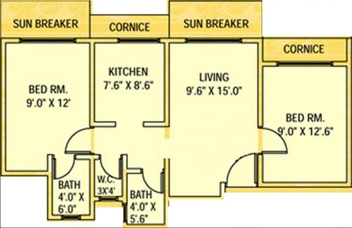 Ameya Anand Upvan, Thane - Floor Plan