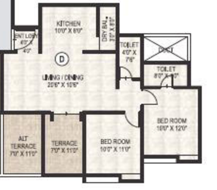 Hemant Fortuna, Pune - Floor Plan