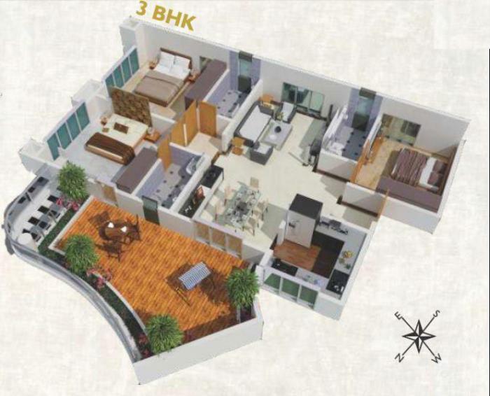 SVS Excellencia, Pune - Floor Plan
