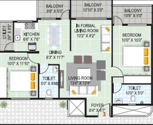 Vandana Sarovar, Bangalore - Floor Plan