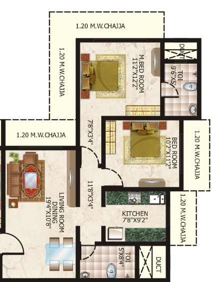 Shreenath Darshan, Mumbai - Floor Plan