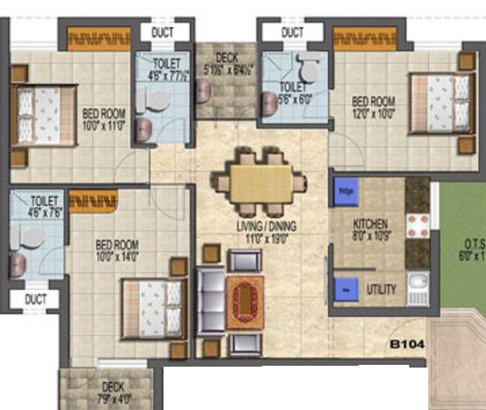 MF Vruksha, Chennai - Floor Plan