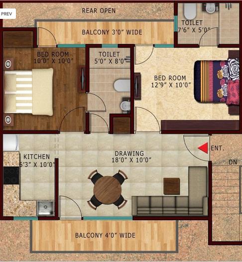 Renowned Lotus Parkk, GreaterNoida - Floor Plan