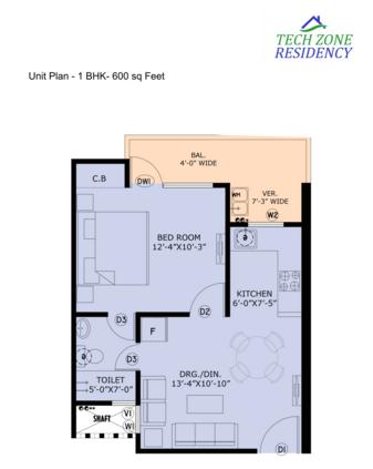 HBA Tech Zone Residency, GreaterNoida - Floor Plan
