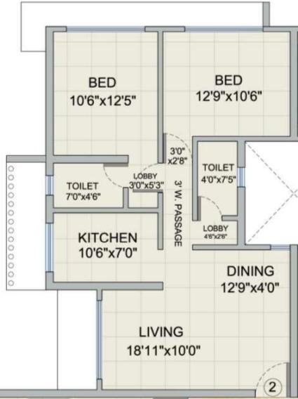 Romell Diva, Mumbai - Floor Plan