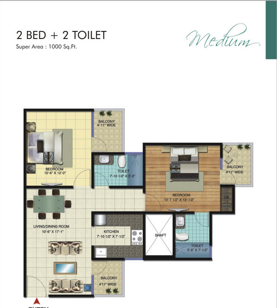 Amrapali Verona Heights, GreaterNoida - Floor Plan